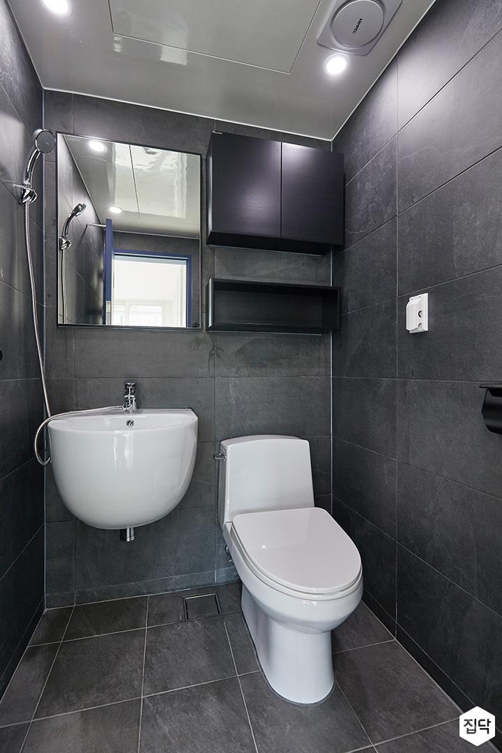 블랙,모던,욕실,세면대,샤워기