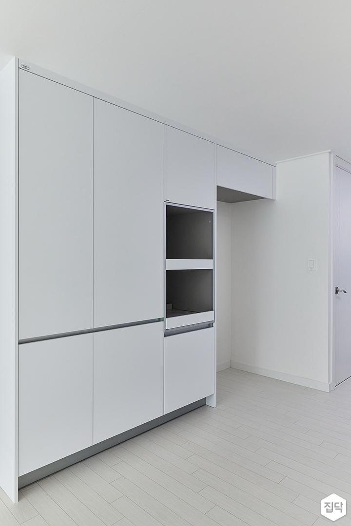화이트,모던,주방,수납장,냉장고장