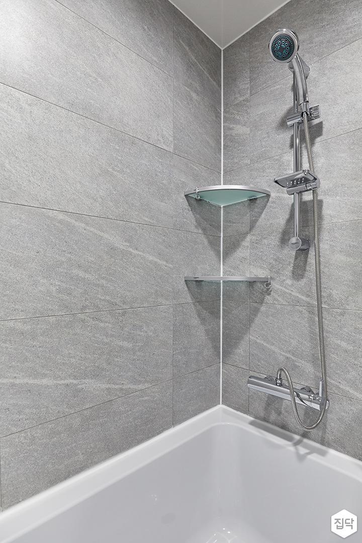 그레이,미니멀,심플,욕실,포세린,샤워기,욕조
