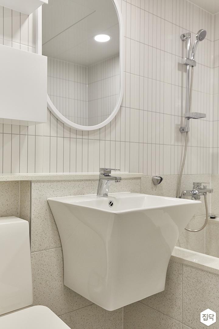 화이트,아이보리,모던,욕실,포세린,세면대,거울
