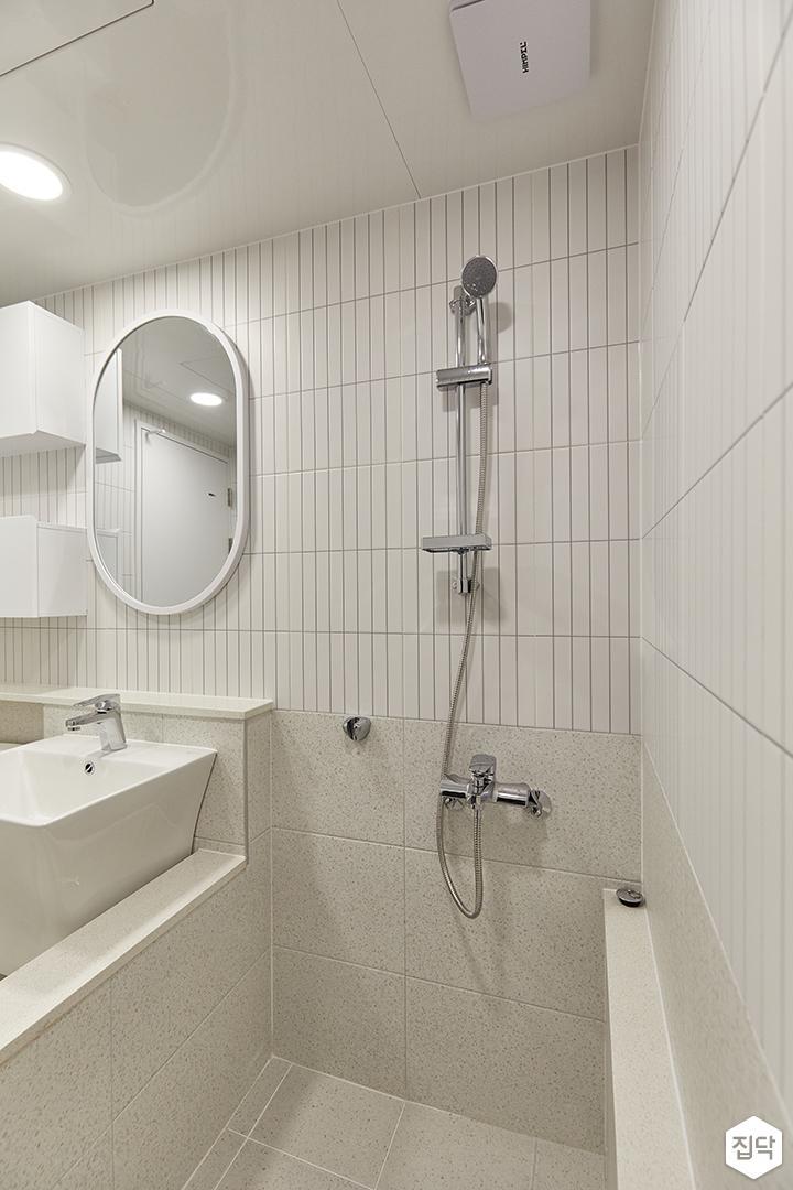 화이트,아이보리,모던,욕실,포세린,샤워기,욕조