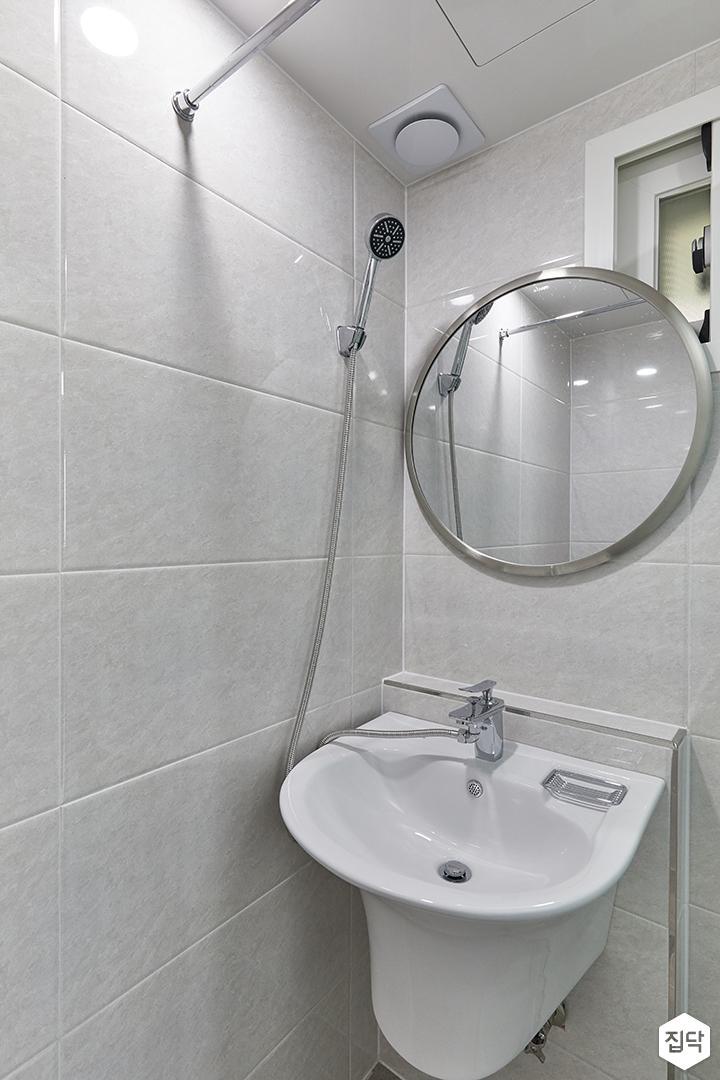 화이트,미니멀,심플,욕실,세면대,거울