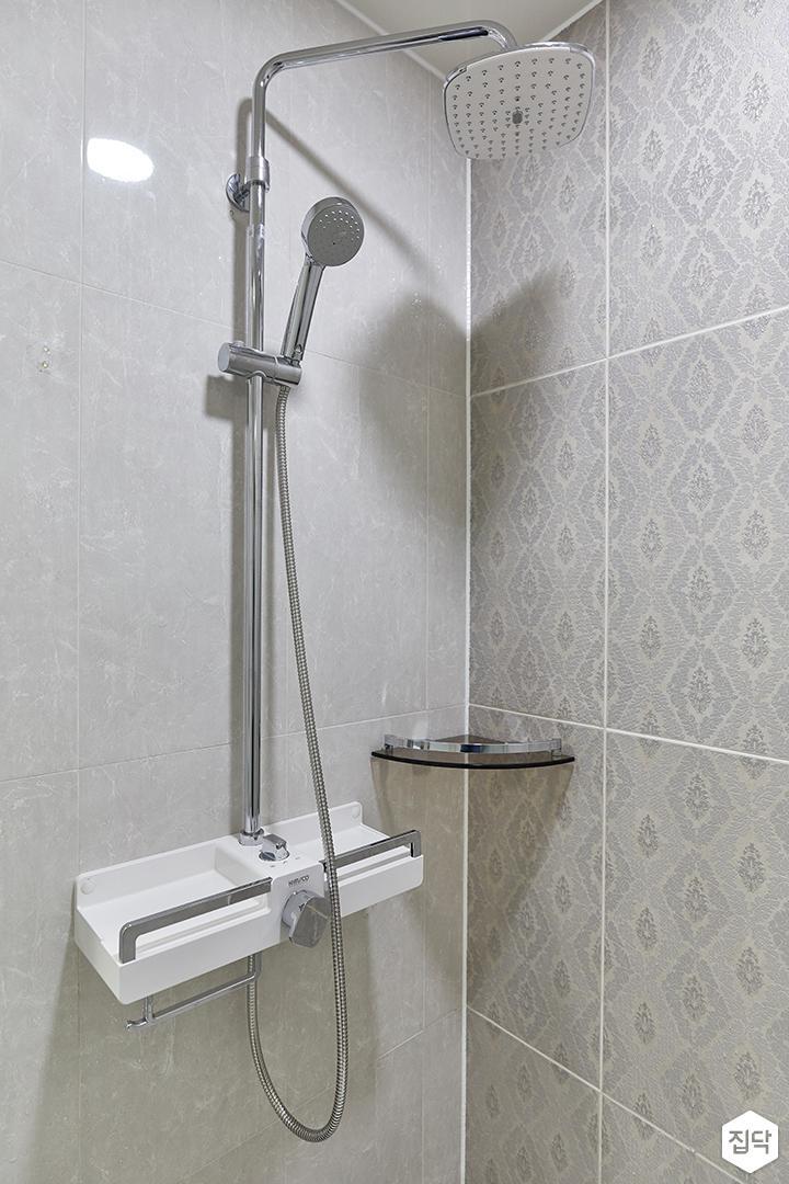 화이트,모던,욕실,샤워기
