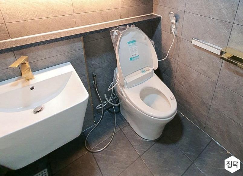 그레이,심플,미니멀,화장실,욕실
