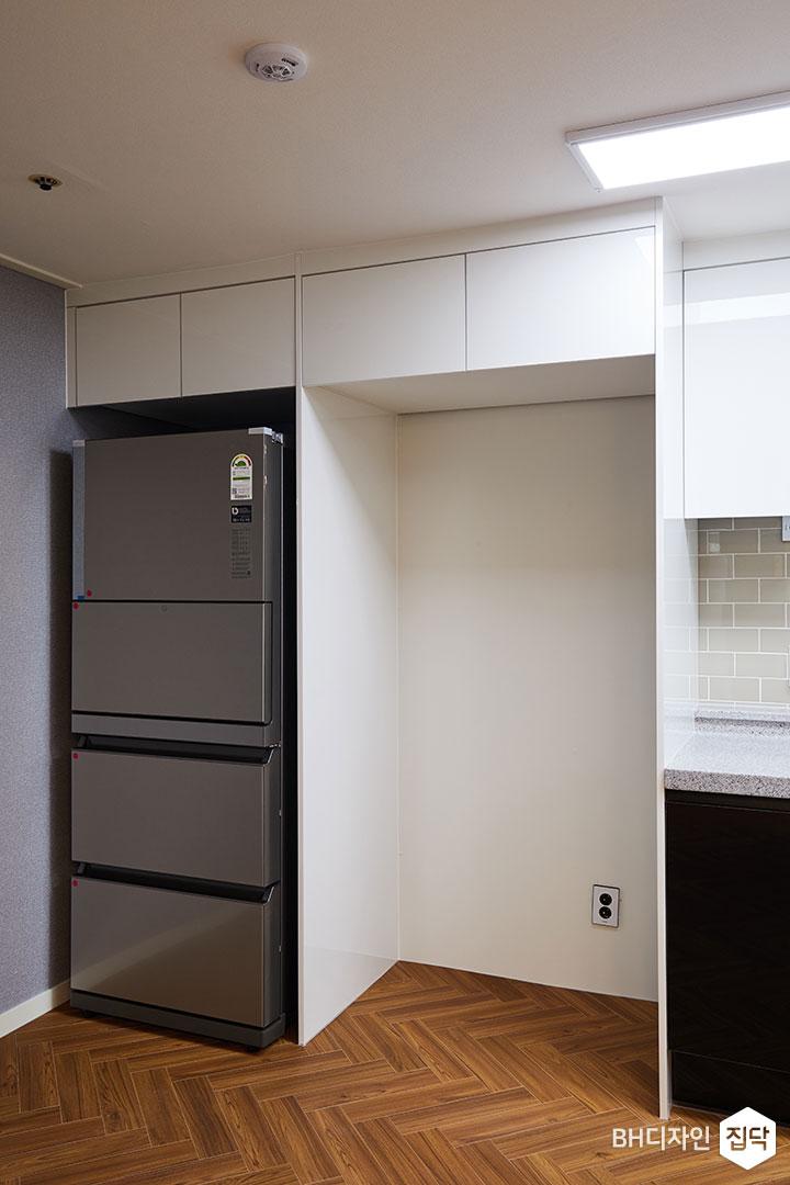 헤링본,강마루,냉장고장,화이트