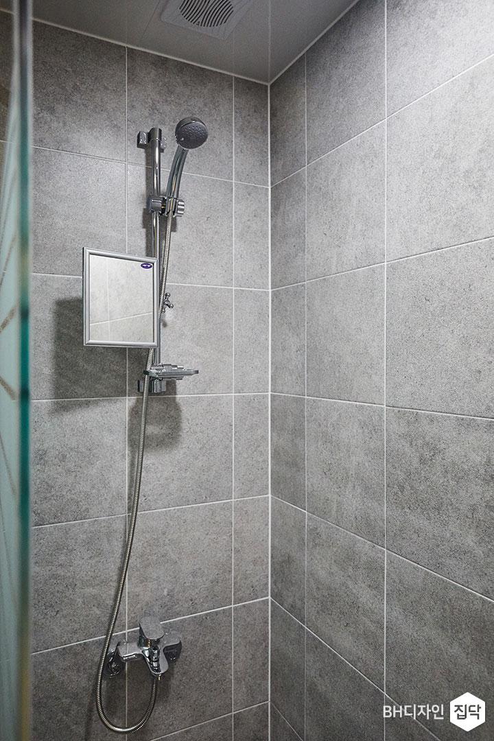 그레이,샤워기,거울