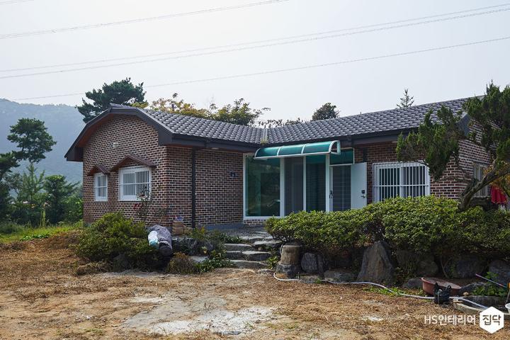 주택,외관,벽돌집,전원주택