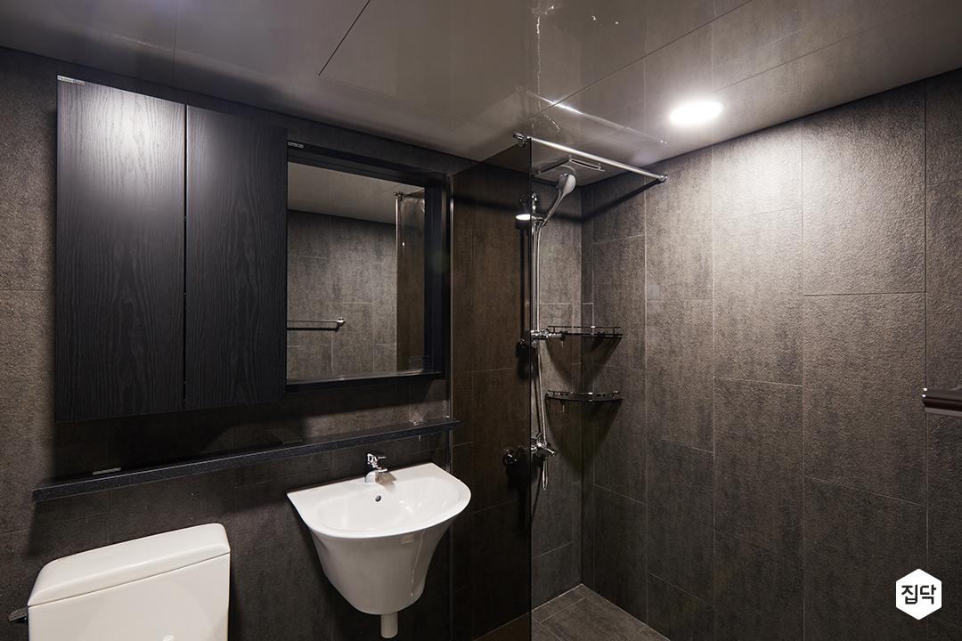 화장실,욕실,벽타일,바닥타일,다크