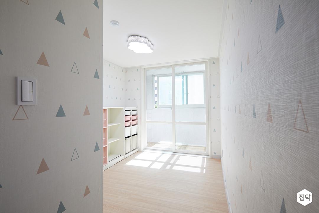 아이방,구름전등,포인트벽지