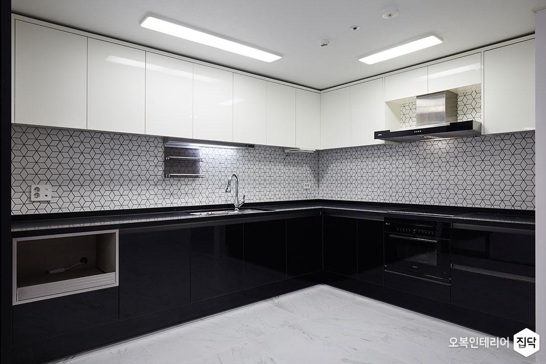 주방,씽크대,상부장,하부장,화이트,블랙,LED,후드