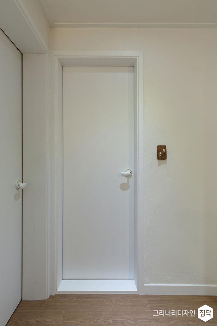 방문,화이트,욕실