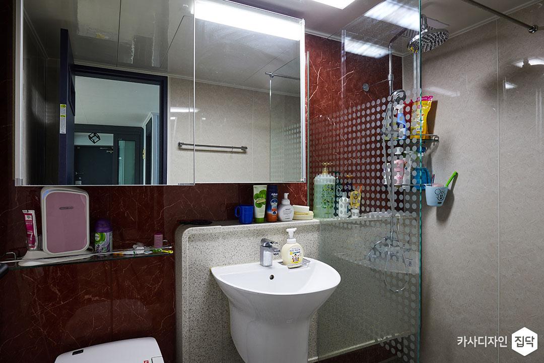 욕실,레드,선반,파티션,해바라기수전