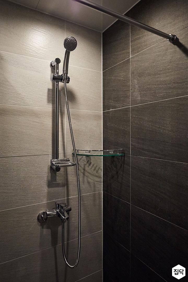 샤워기,코너선반,다크그레이,모던