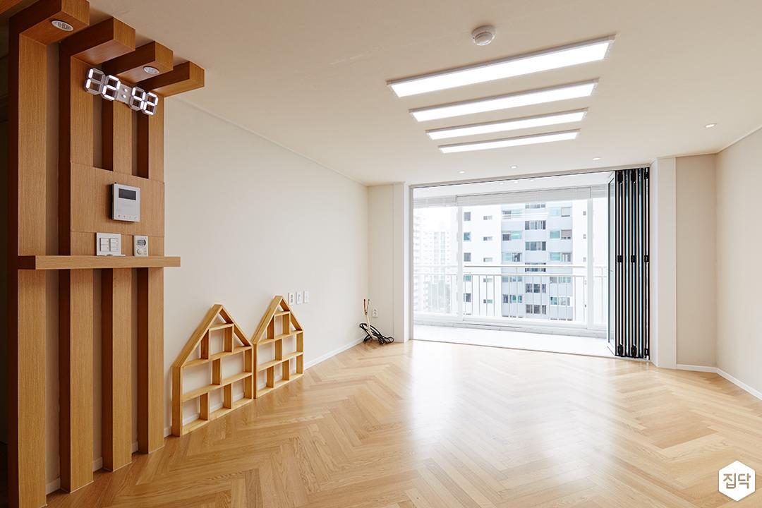 폴딩도어,매입등,거실,우드,원목,LED조명