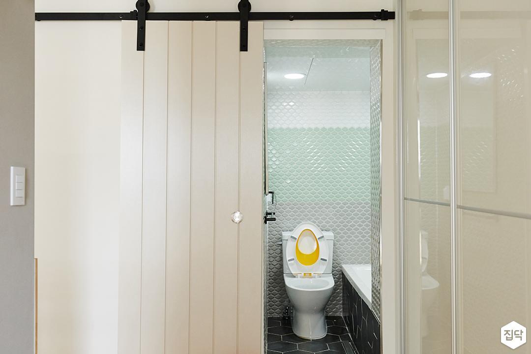 마굿간도어,욕실,화이트