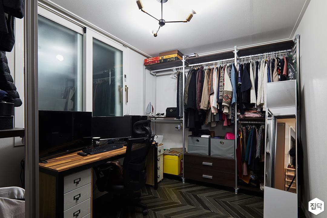 드레스룸,화이트,블랙,모던