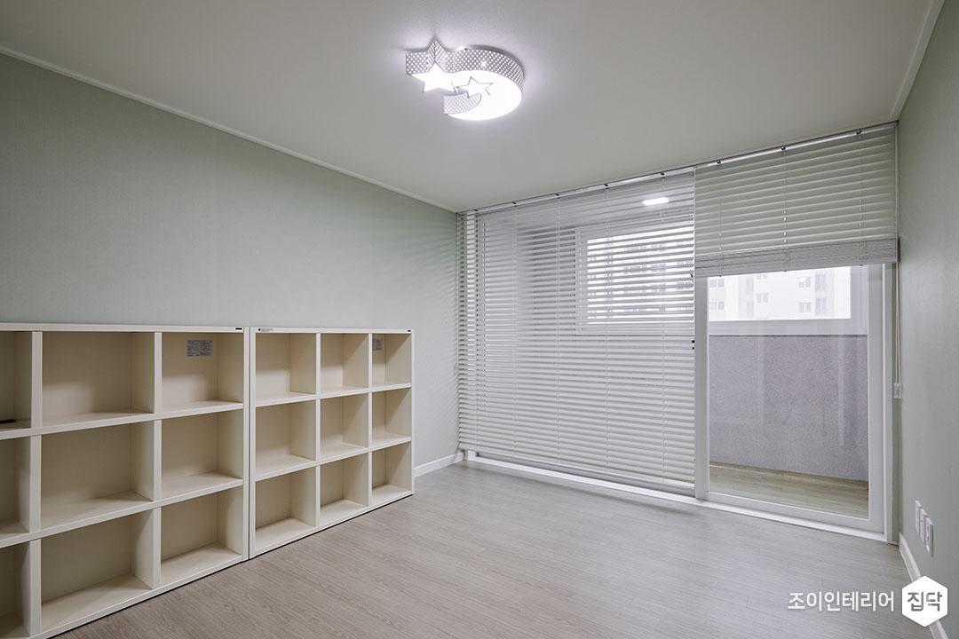 아이방,그레이,심플,LED조명,디자인조명,책장,수납공간