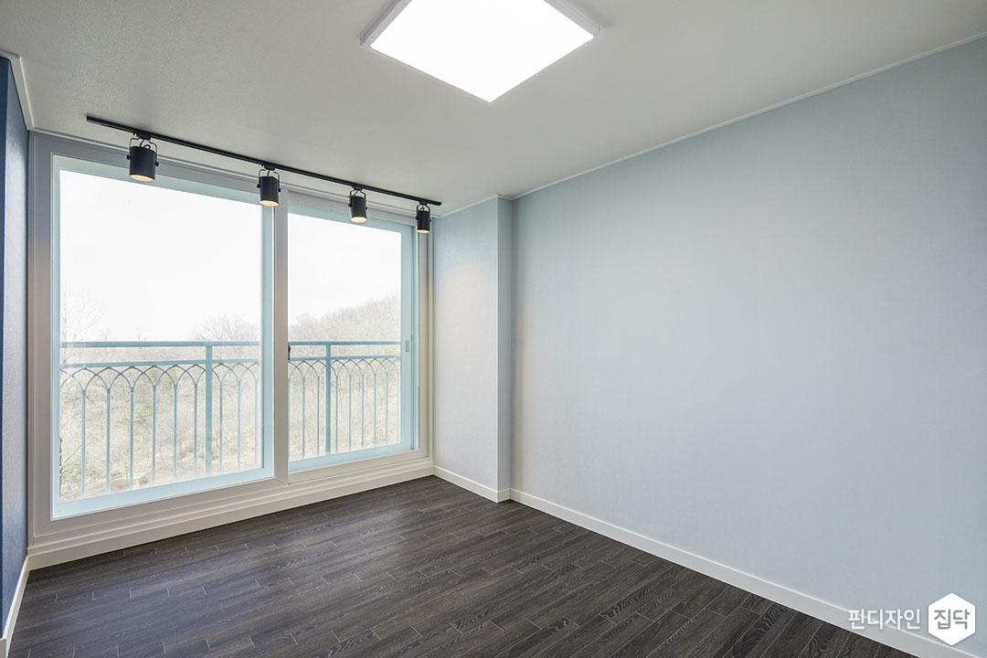 작은방,블루,LED조명,슬림엣지조명,레일조명,강마루