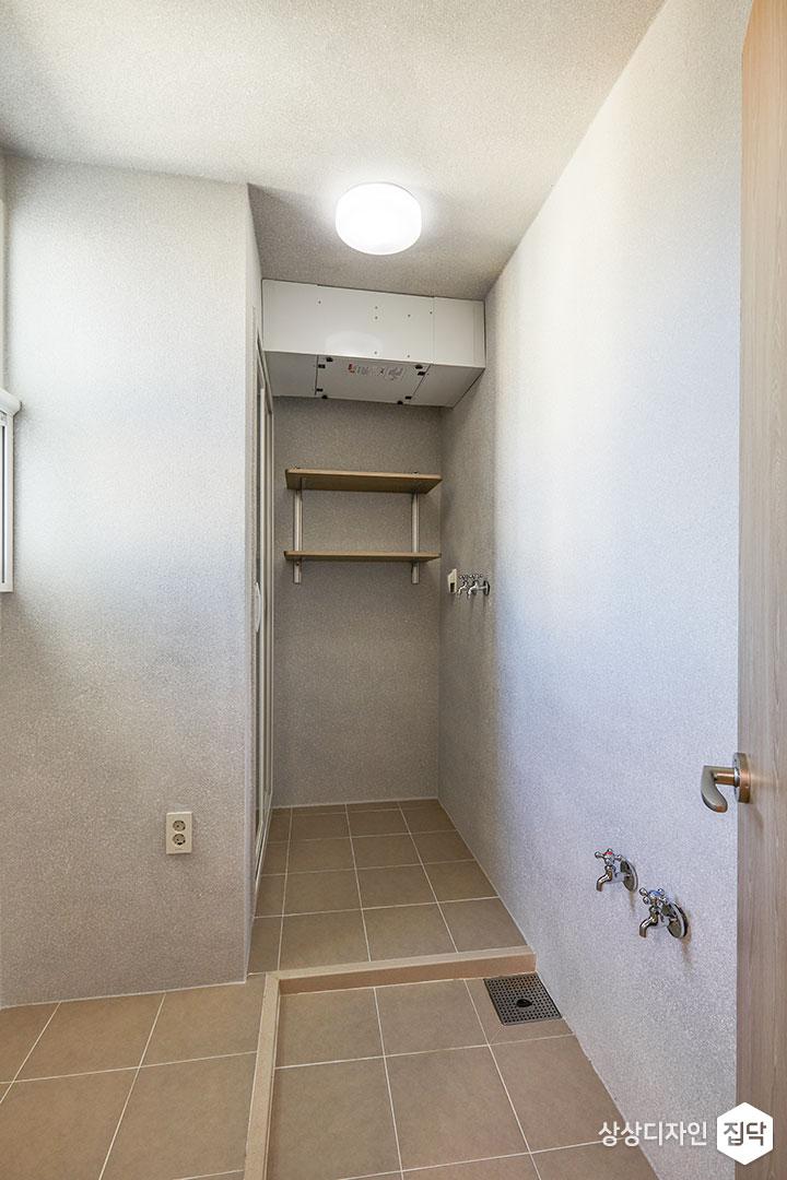 다용도실,그레이,심플,LED조명,선반