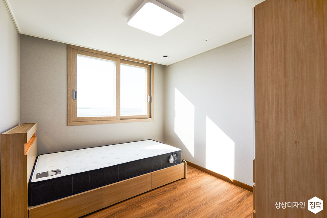 침실,그레이,심플,LED조명,침대헤드