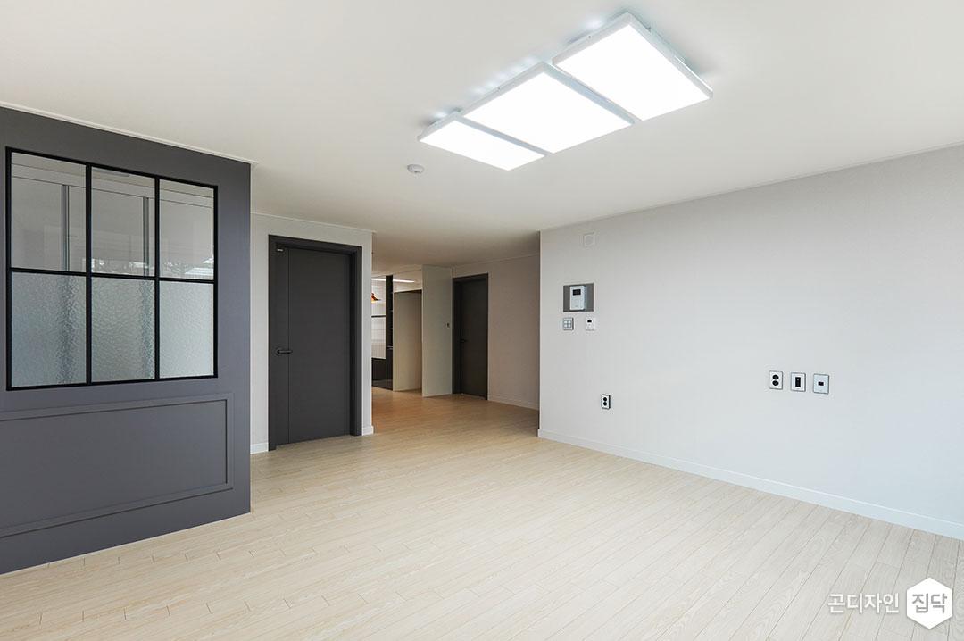 거실,그레이,심플,LED조명