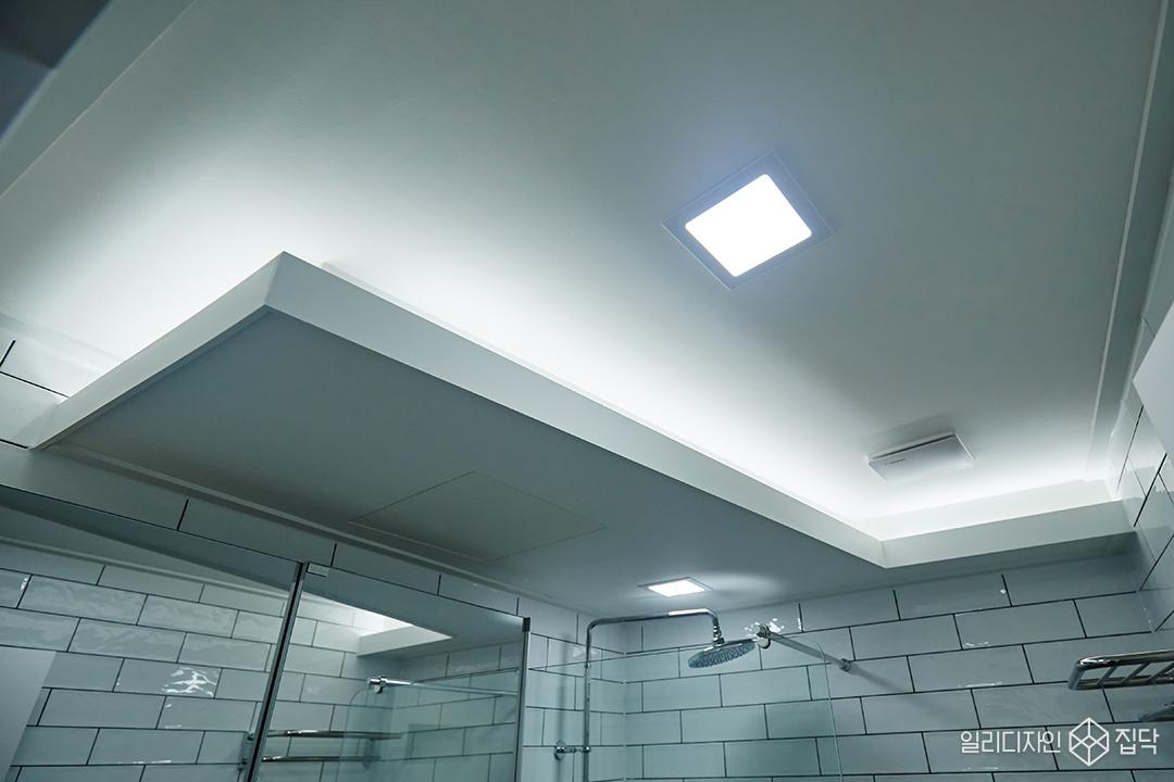 간접조명,포인트,욕실,천장