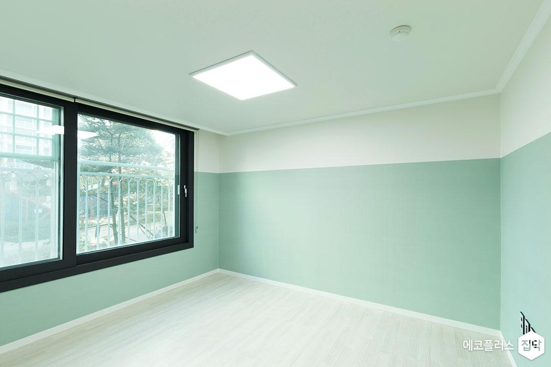 작은방,그레이,모던,투톤,LED조명