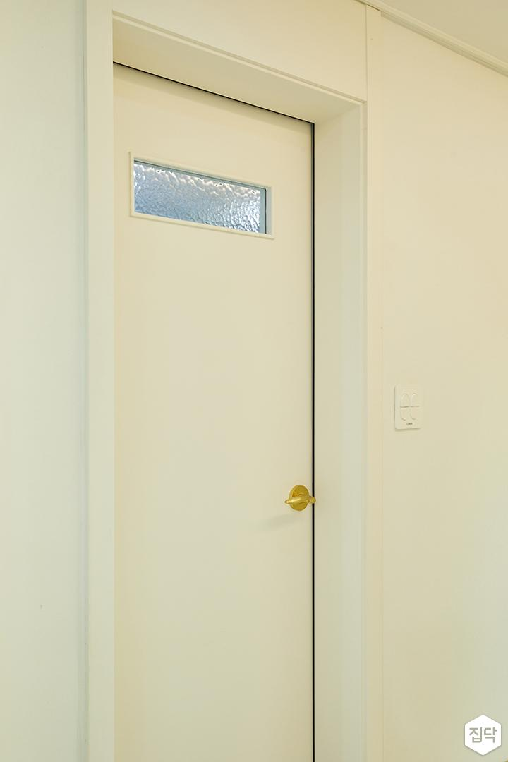 욕실문,아쿠아유리,골드손잡이