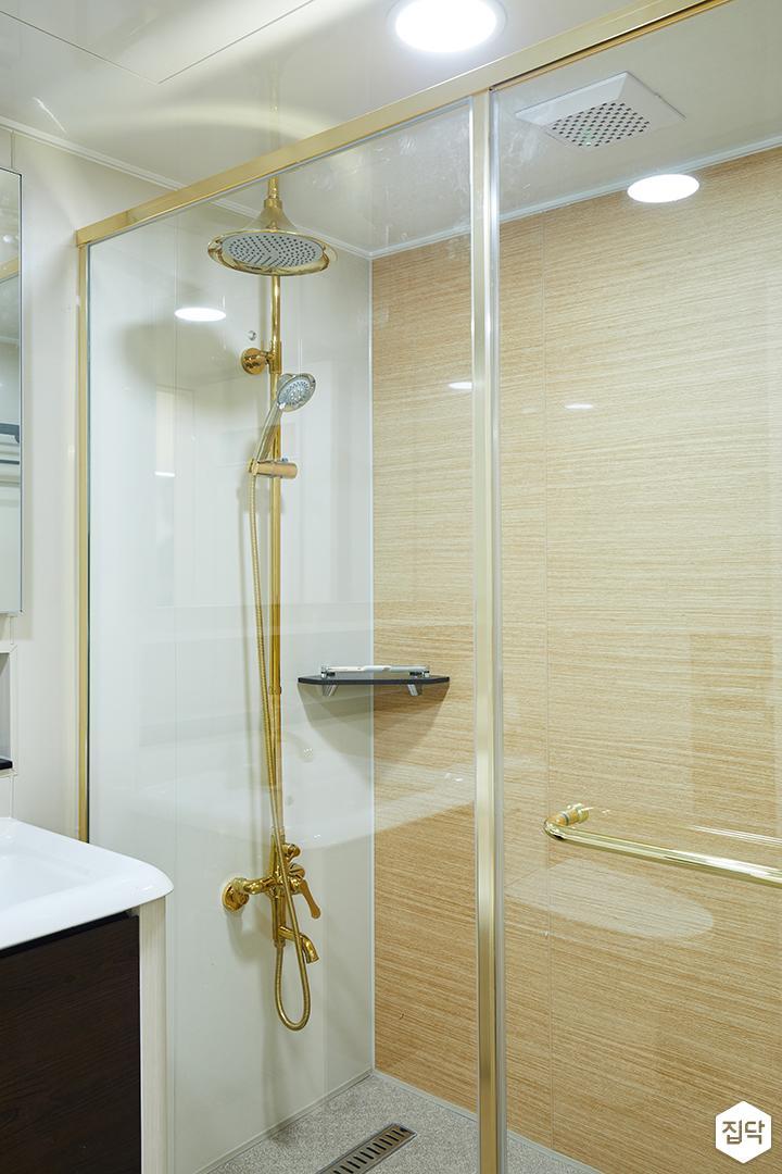 욕실,골드,매립형선반,세면대,화이트