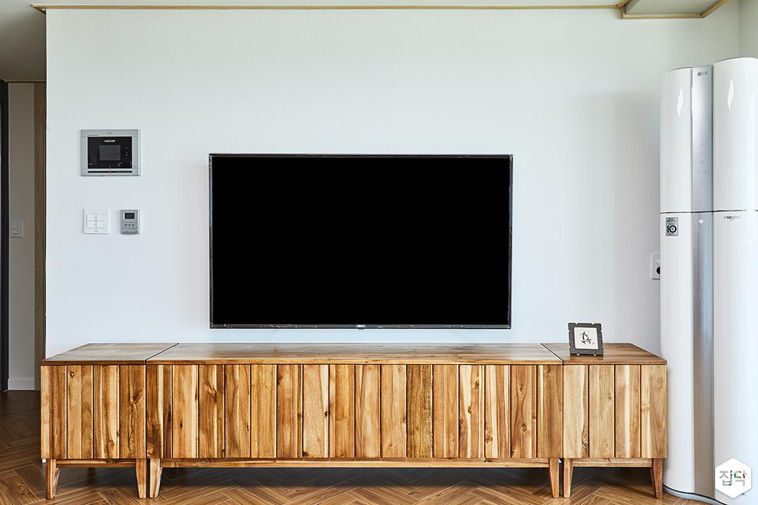 TV선반,목재,화이트
