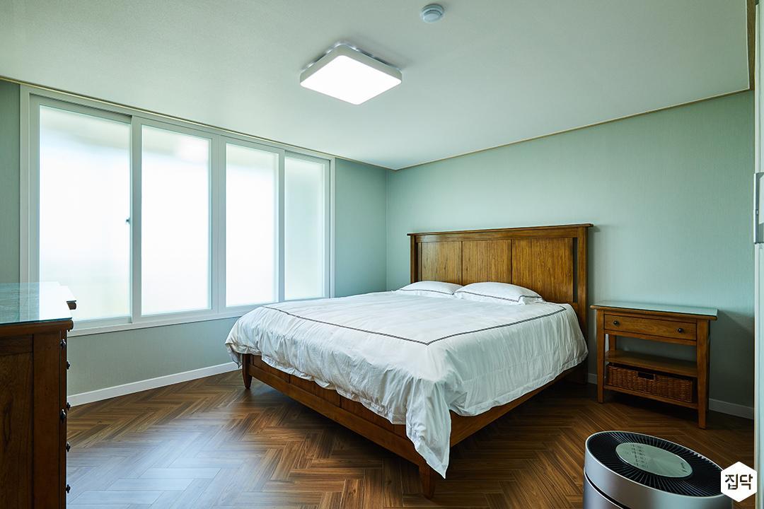 안방,침대,원목가구,민트
