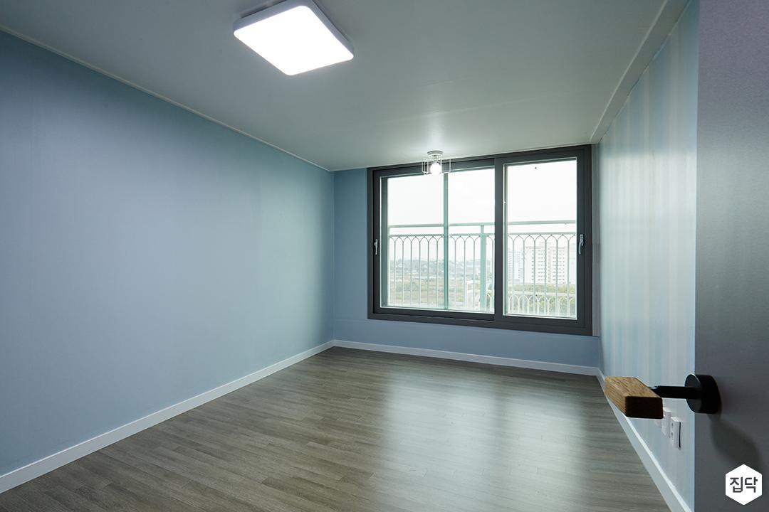 아이방,하늘색,실크벽지,LED조명