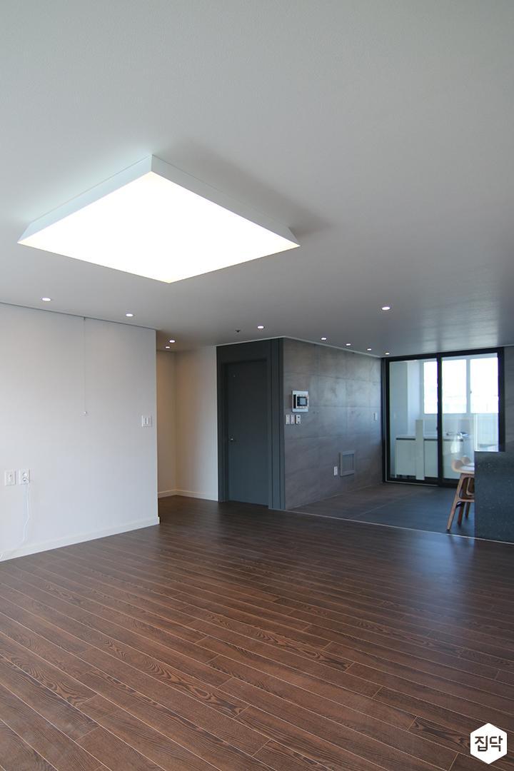 거실,LED조명,강마루,다운라이트조명