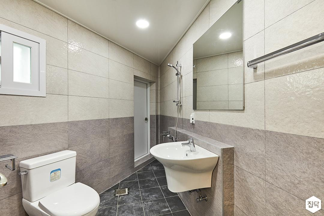 욕실,화이트,심플,투톤,젠다이,마블패턴,세면대,거울