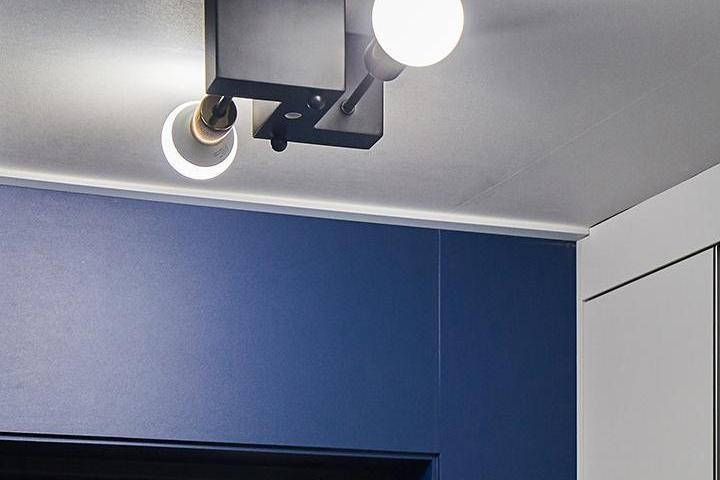 현관,블루,모던,센서등,led조명