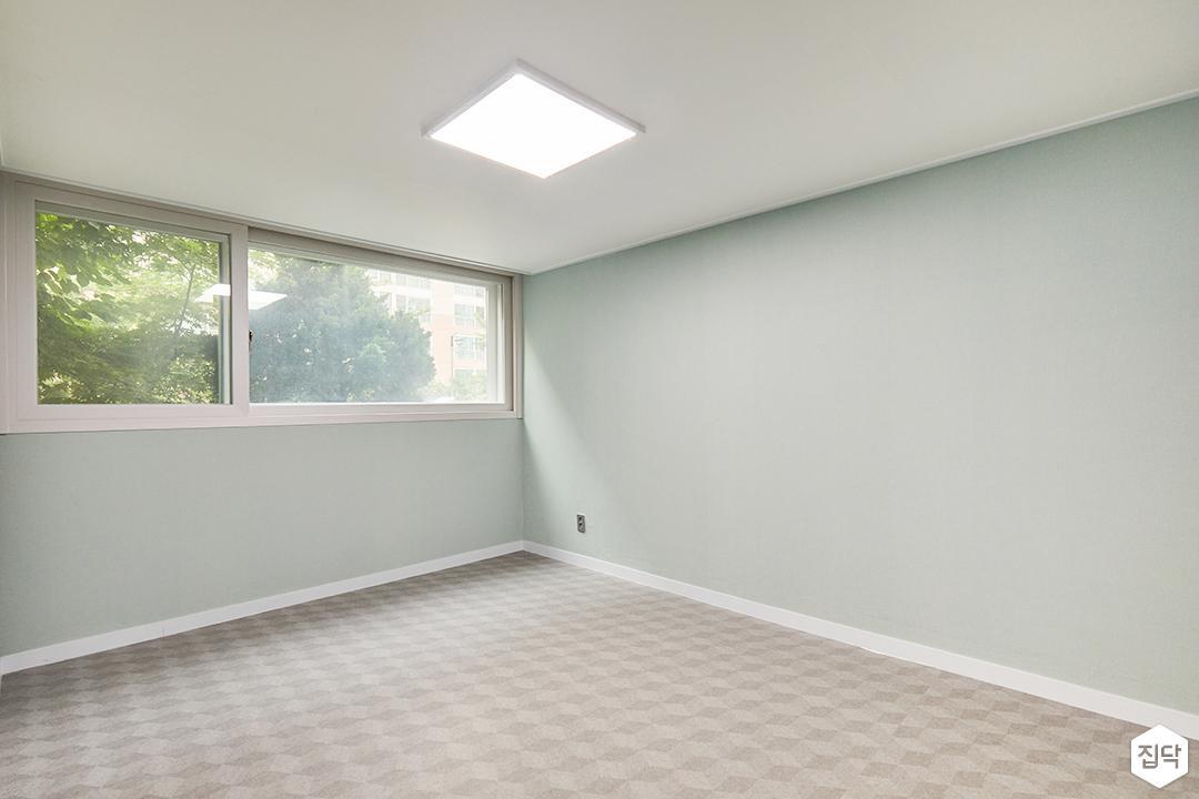 방,그린,심플,led조명,디자인장판,민트