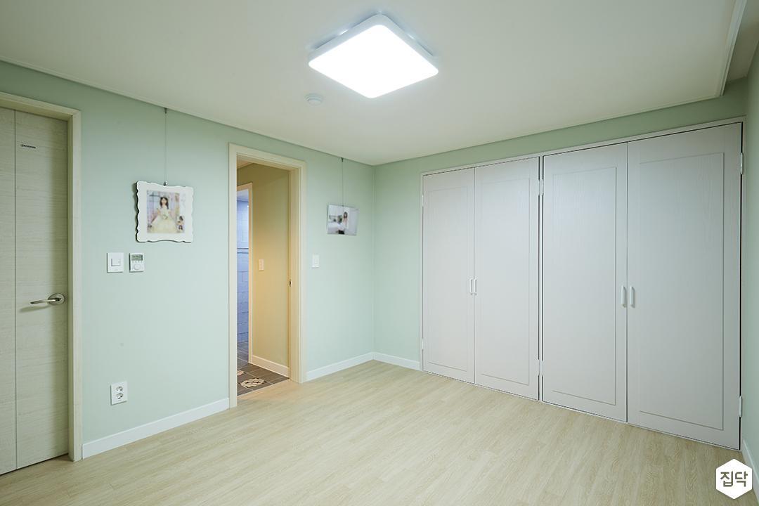 방,그린,심플,민트,LED조명