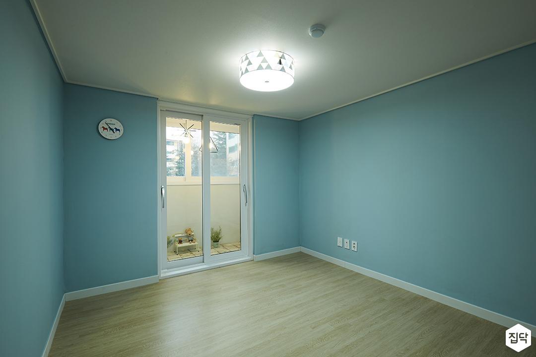 방,블루,모던,LED조명,샤시