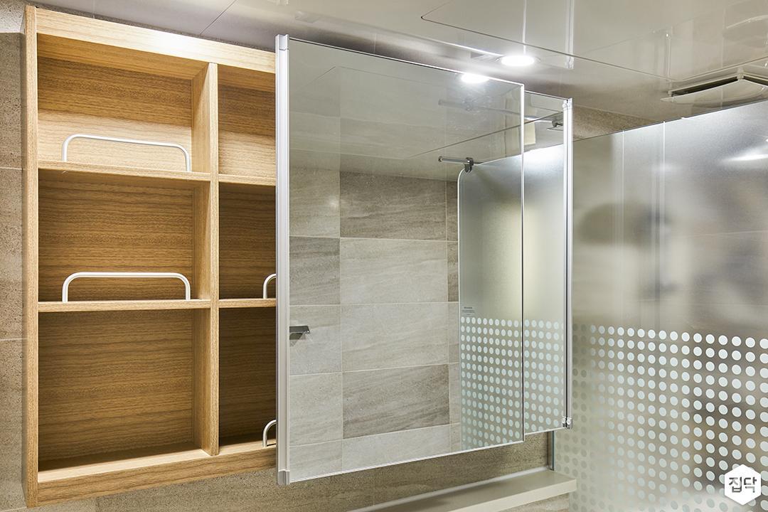 욕실,그레이,모던,슬라이딩거울장