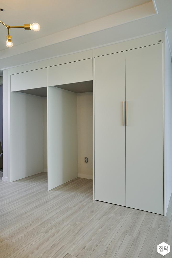 주방,아이보리,모던,수납장,냉장고장,매트화이트