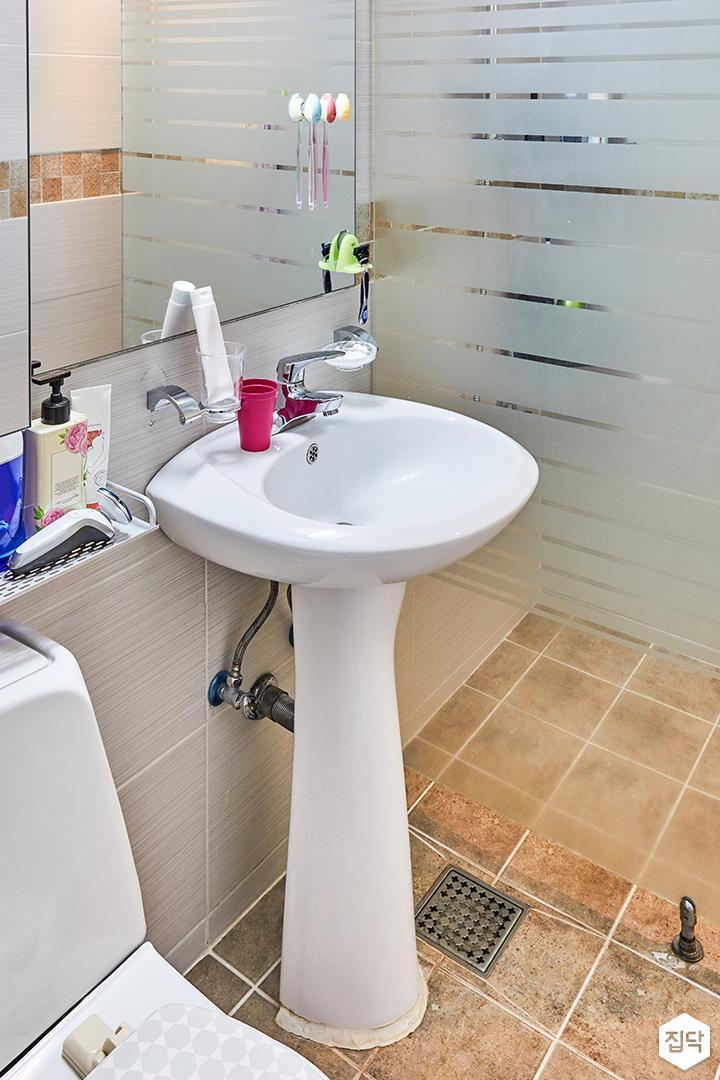 욕실,화이트,심플,세면대,거울