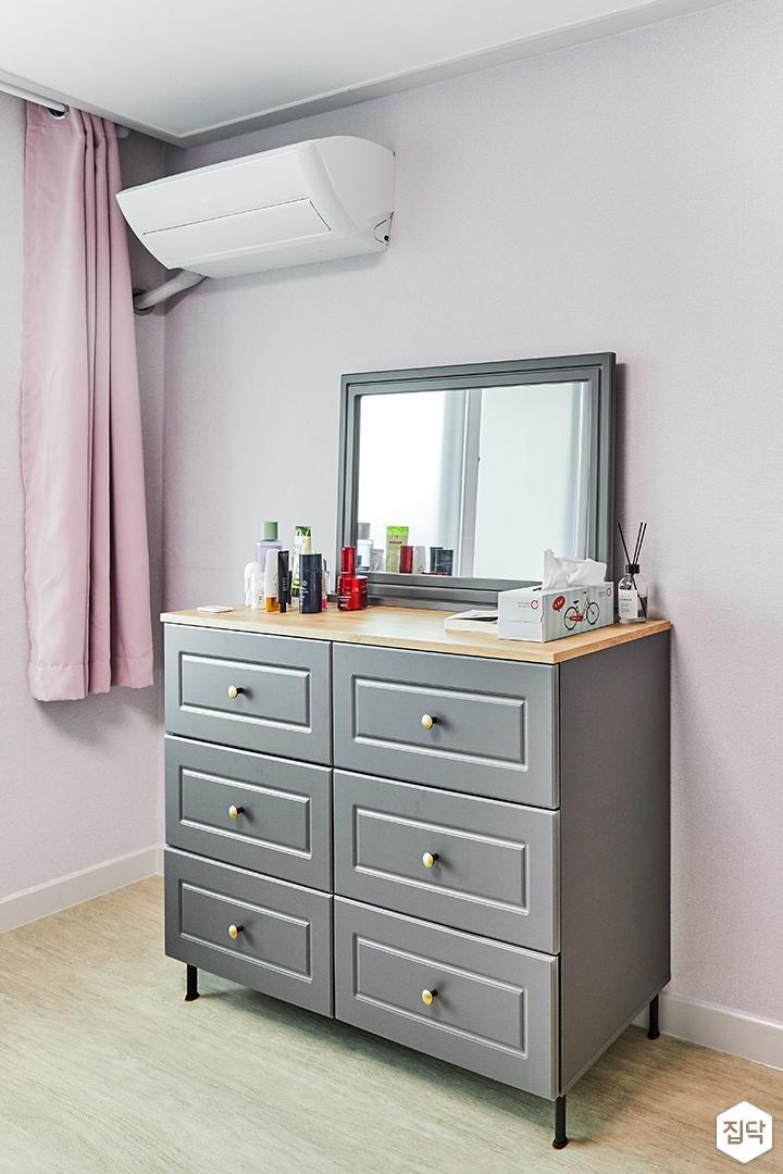 방,핑크,모던,화장대,수납장