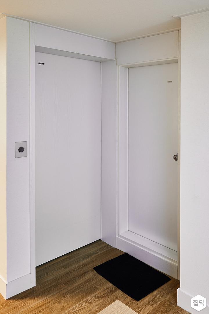 거실,화이트,심플,장판,욕실문,슬라이딩도어,ABS도어