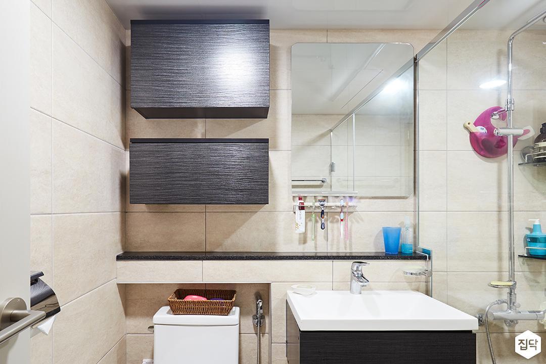 욕실,화이트,심플,무지주선반