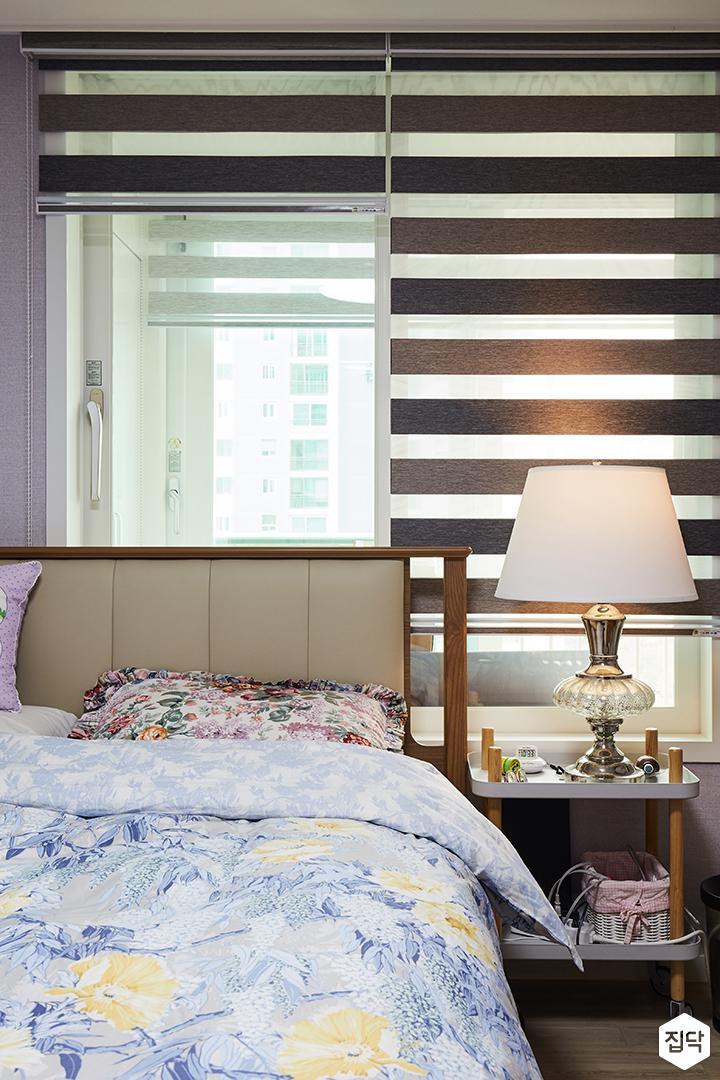 아이방,그레이,심플,침대,LED조명,블라인드