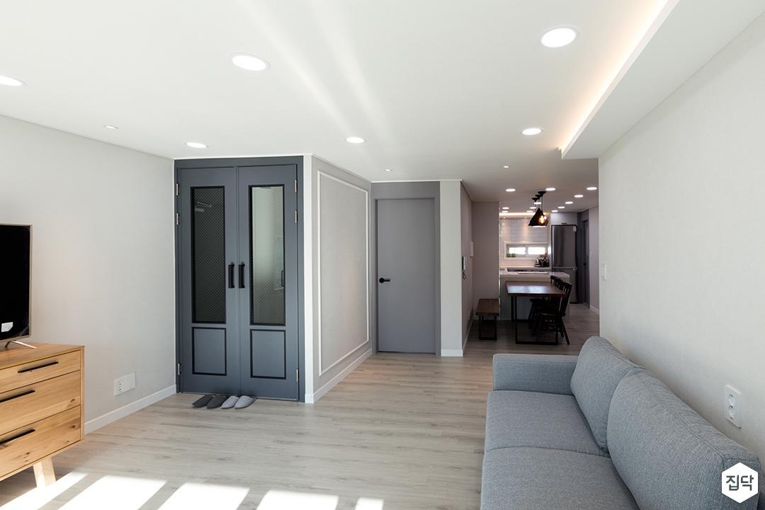 거실,화이트,심플,간접조명,LED조명,소파