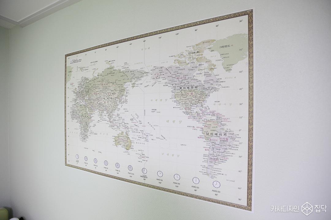 세계지도벽지,아이방,천연벽지