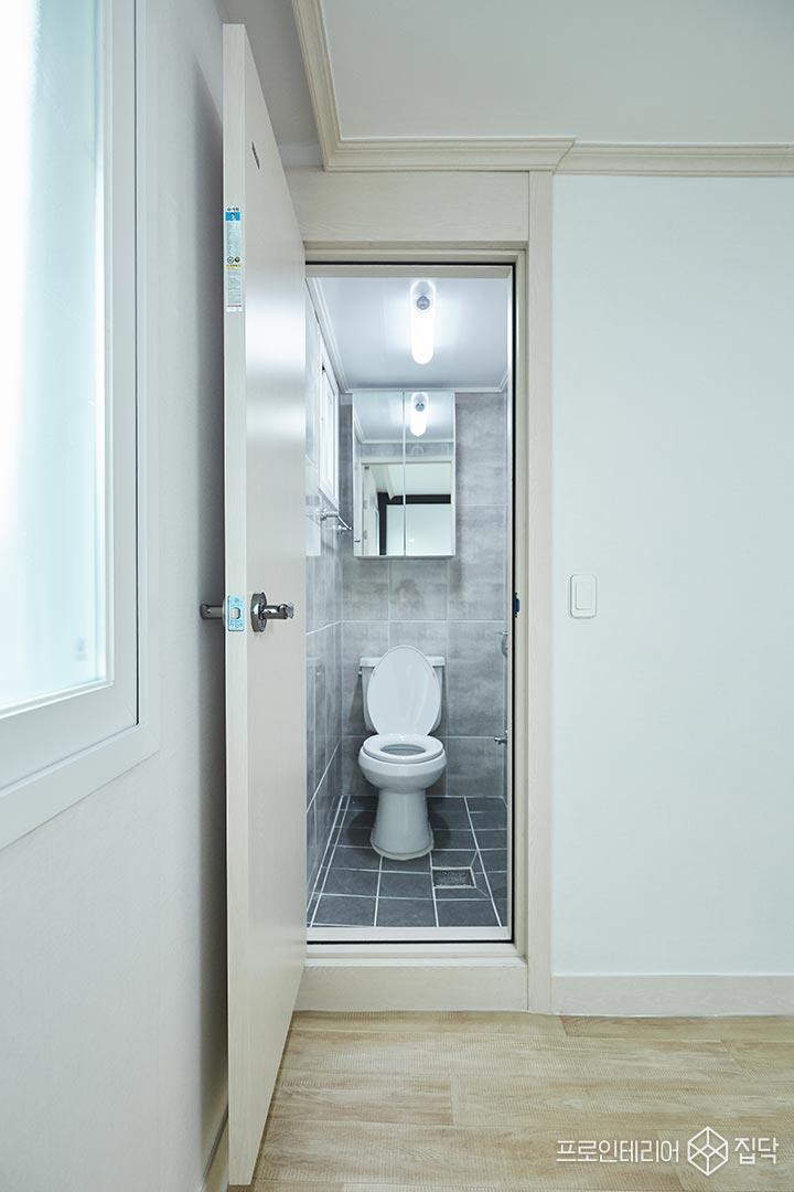 안방욕실,심플,그레이