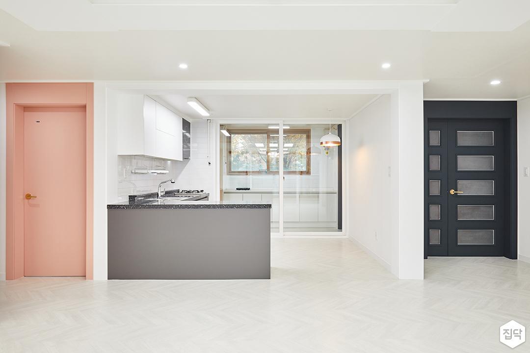 주방,화이트,그레이,모던,다운라이트조명,LED조명
