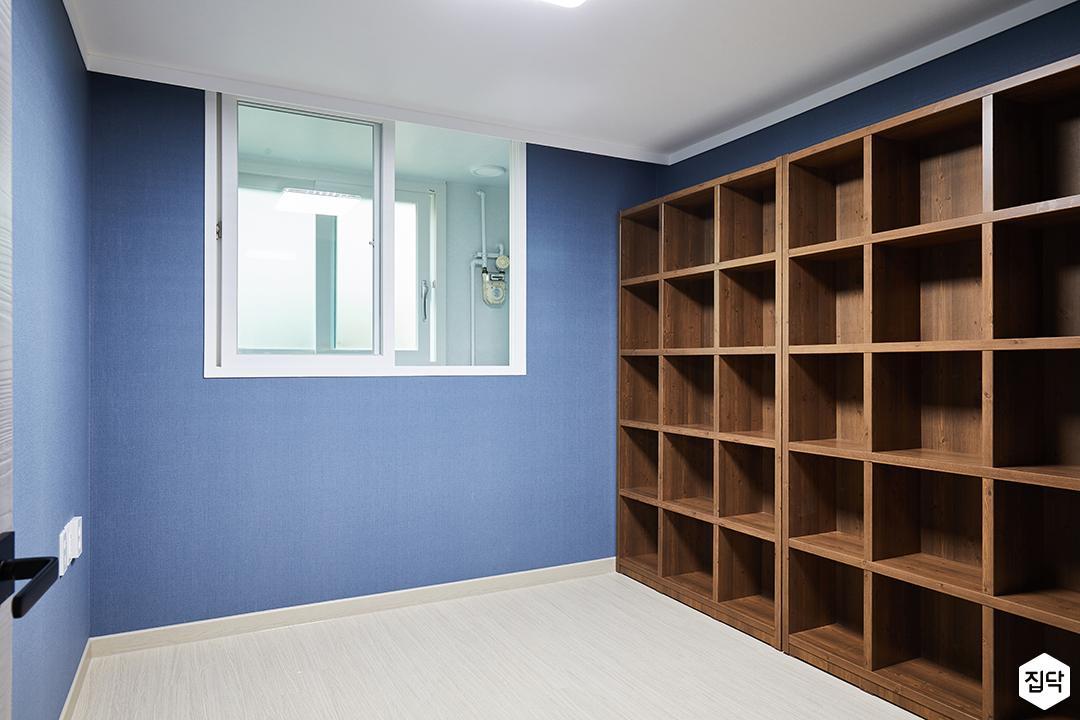 방,블루,심플,책장,선반,수납공간